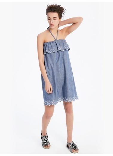 Twist Elbise Mavi